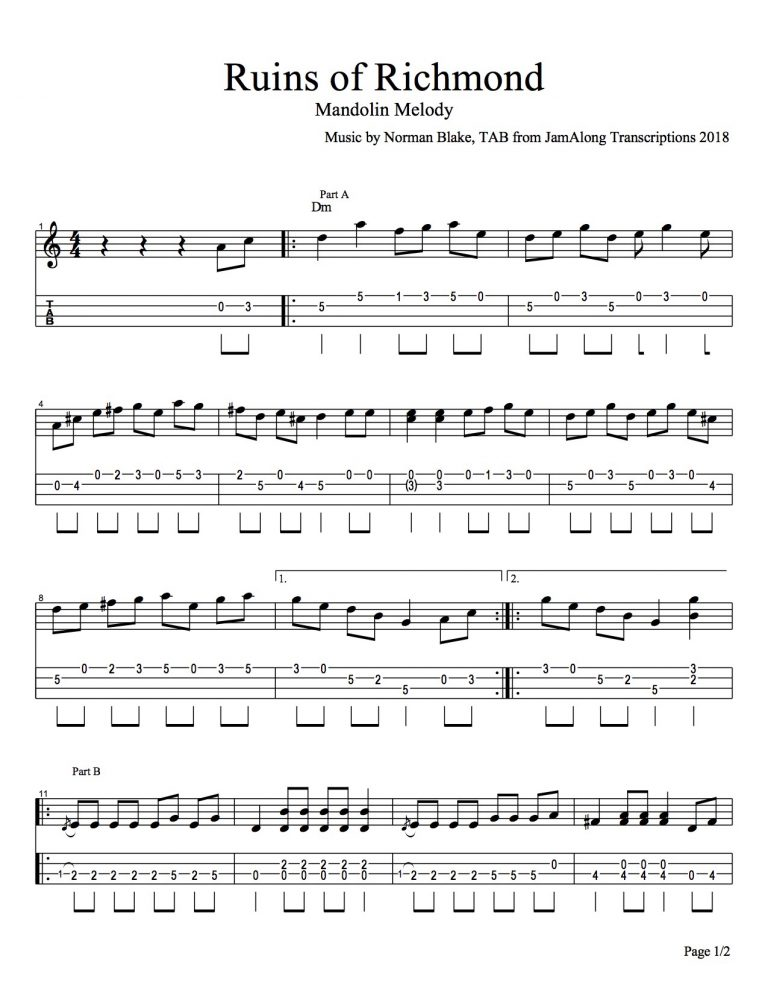transcribe guitar, transcribe mandolin - custom music transcriptions